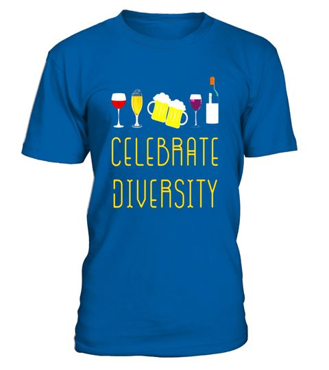 """# Celebrate Diversity beer wine drinks best funny gift t-shirt .  Special Offer, not available in shops      Comes in a variety of styles and colours      Buy yours now before it is too late!      Secured payment via Visa / Mastercard / Amex / PayPal      How to place an order            Choose the model from the drop-down menu      Click on """"Buy it now""""      Choose the size and the quantity      Add your delivery address and bank details      And that's it!      Tags: A fun shirt for those…"""