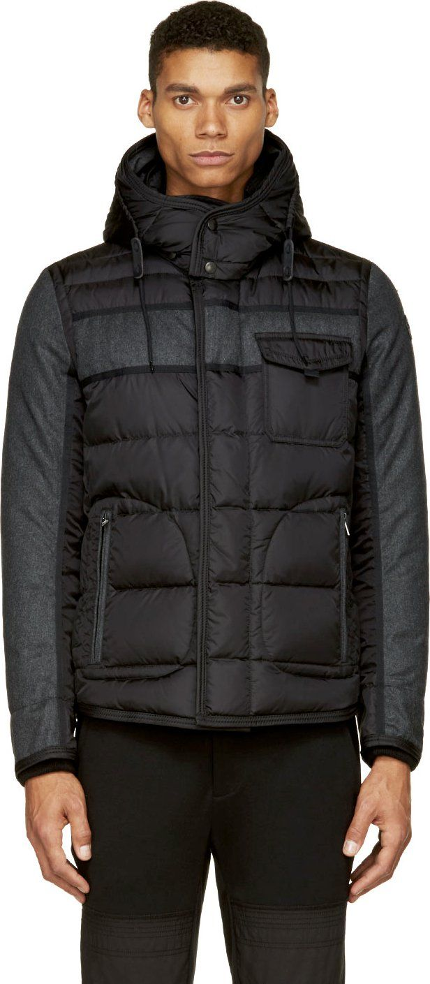 Moncler  Black Quilted Down Ryan Jacket   SSENSE   Men s Outerwear ... 55585bce12f