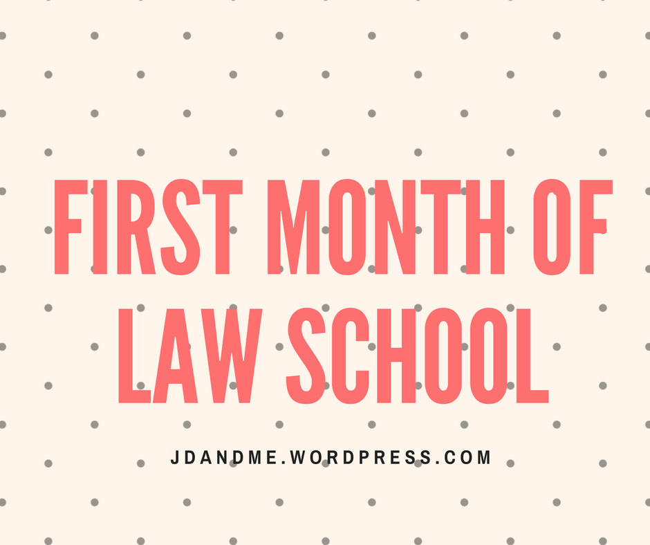 What to expect during your first month of law school