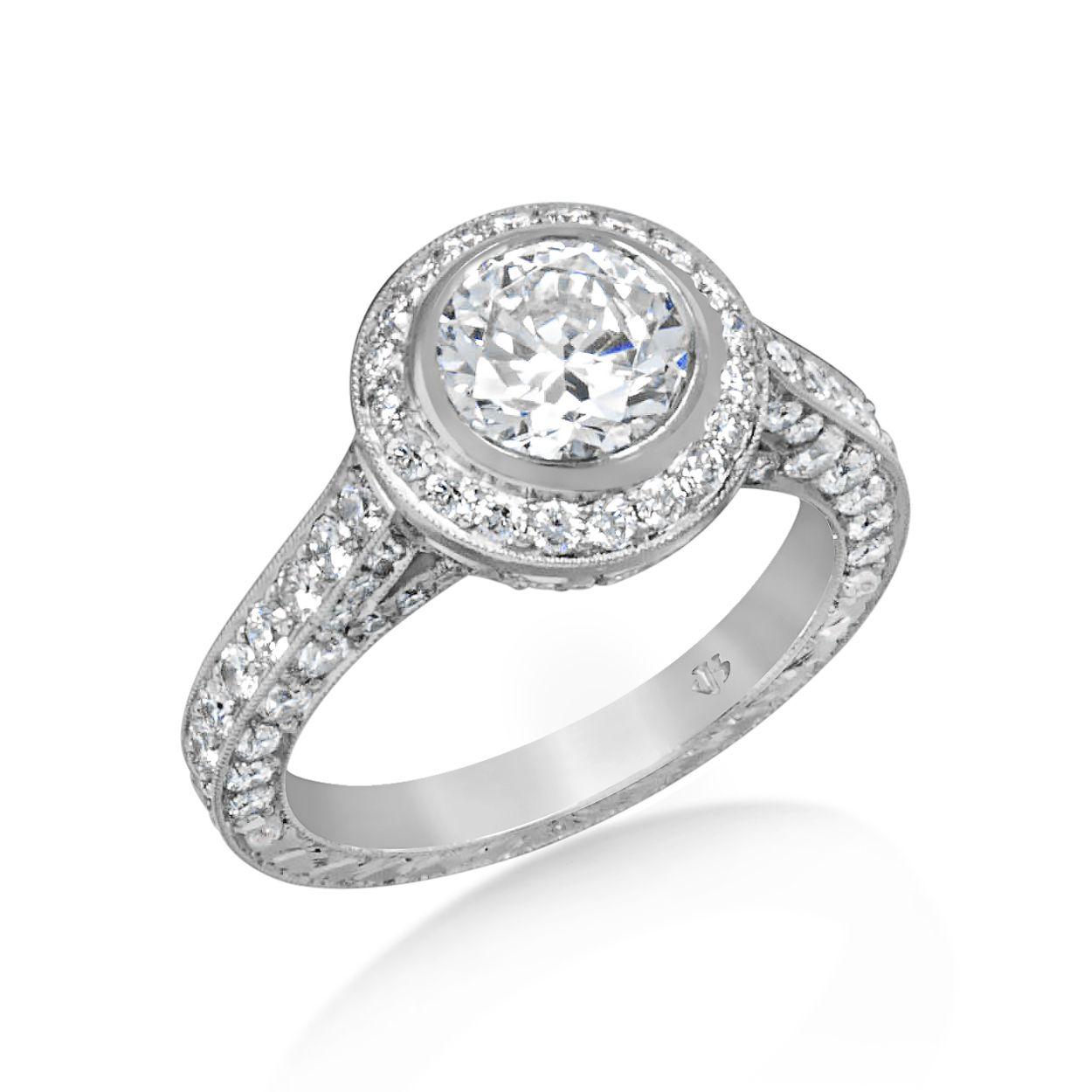 Chicago Bridal Marshall Pierce Company Jack Kelege Halo Diamond Engagement Ring Sale Pric Round Halo Engagement Rings Stunning Engagement Ring Engagement