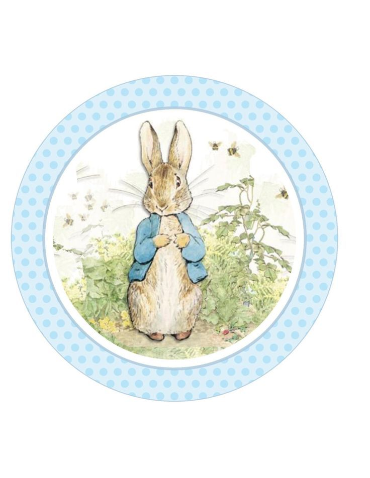 Image result for peter rabbit cake topper free printable | cumple 1 ...