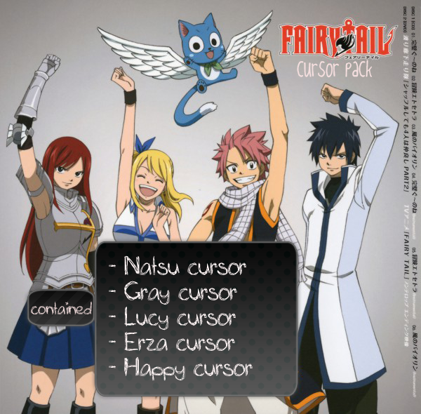 Fairy Tail Cursor Pack by akibachan deviantart com on @deviantART