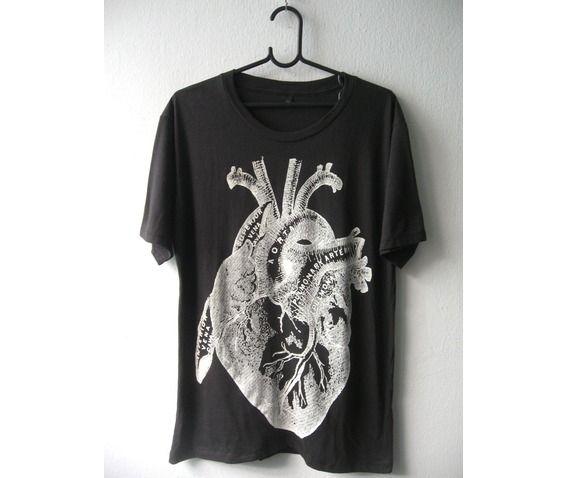Heart drawing diagram anatomy rock fashion punk goth t shirt m standard tops 3