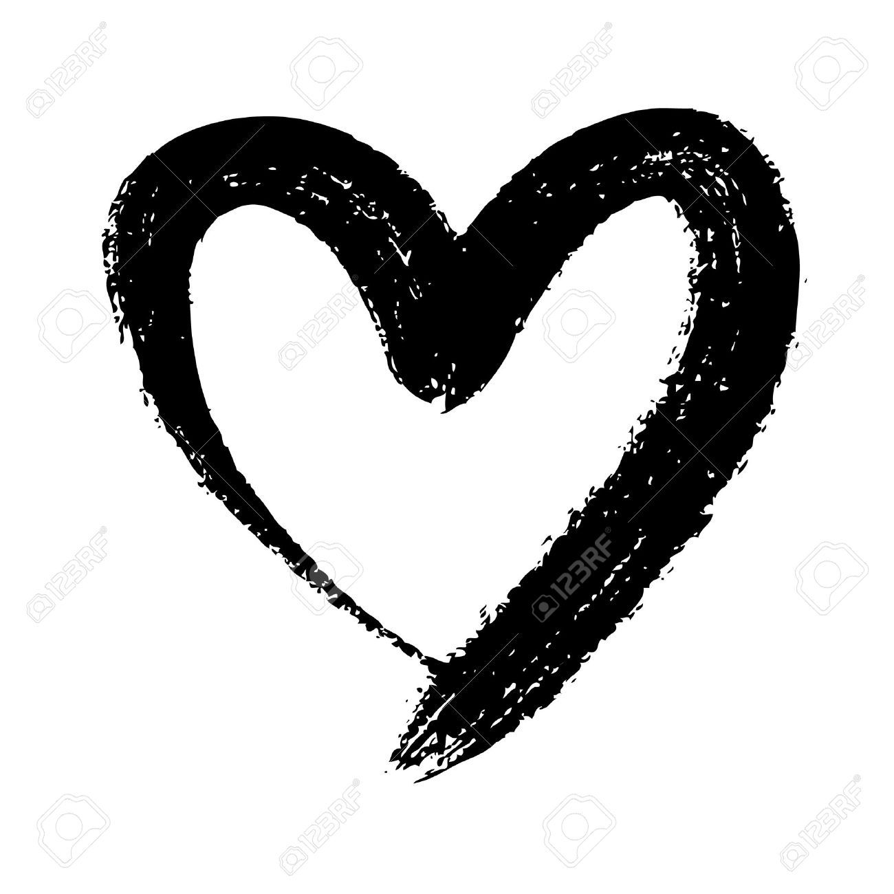 medium resolution of doodle hand drawn heart shaped on white background royalty free