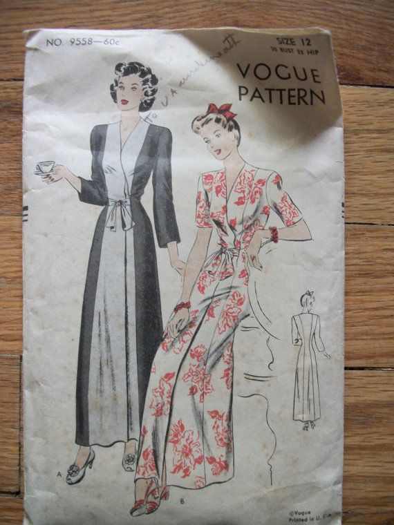 This is unusual and really pretty. 1940s Sewing pattern | Sewing ...