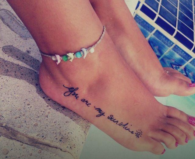 Sexy foot tattoo