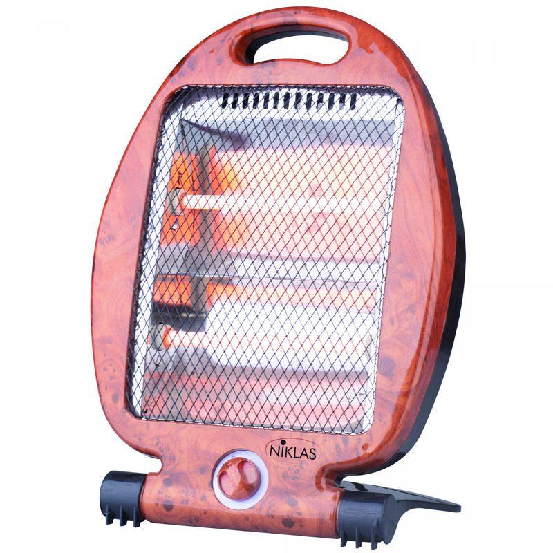 Chauffage Quartz 800W Niklas 2 Puissances de chauffe 400//800W Chauffage dappoint S/écurit/é anti basculement