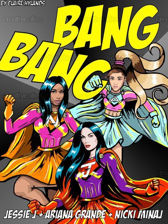 Jessie J + Ariana Grande + Nicki Minaj Poster by Claire Hylands on CreativeAllies.com please vote!