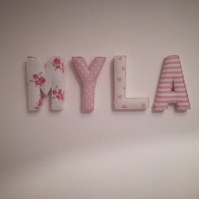 Fabric letters, name, fabric padded letters, A-Z ...