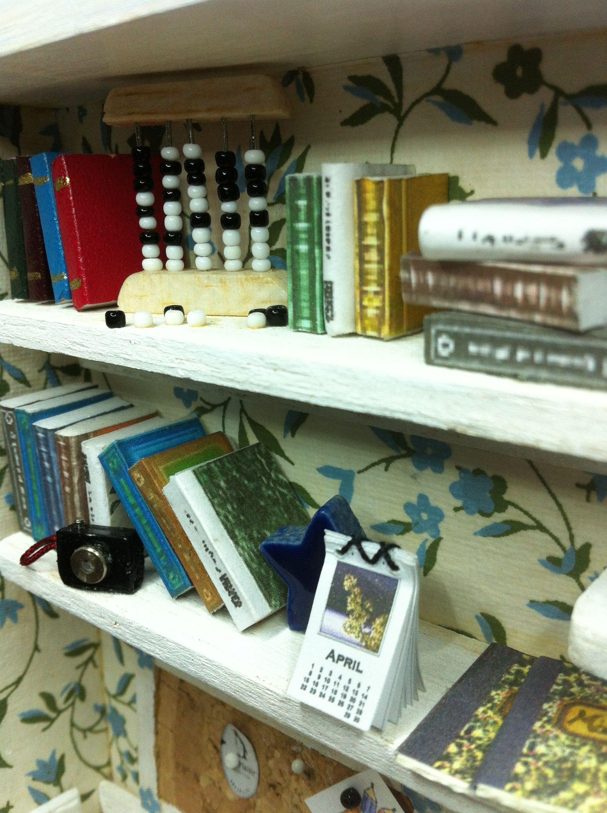 Books, camera and calendar .