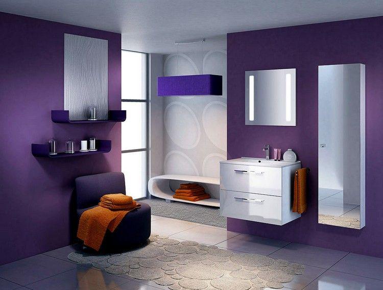 35++ Salle de bain blanche et violette inspirations