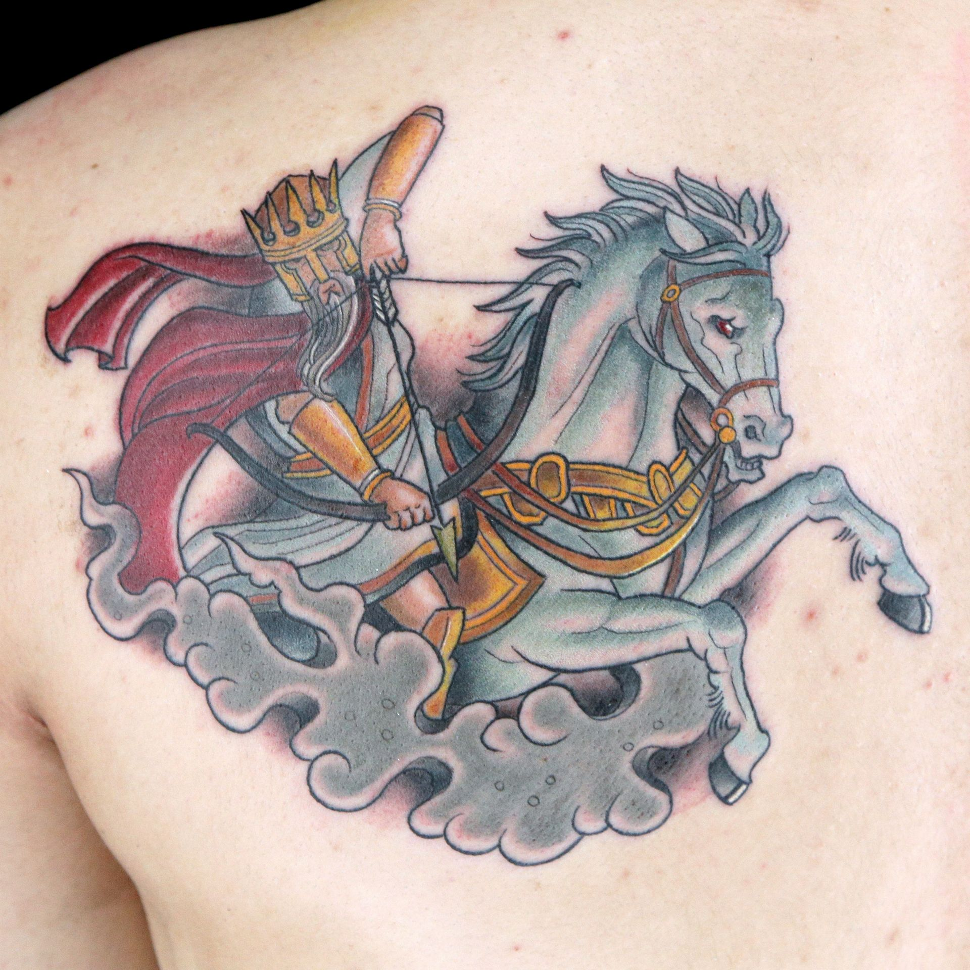 Horseman of the Apocalypse Tattoo by Tommy Helm (With
