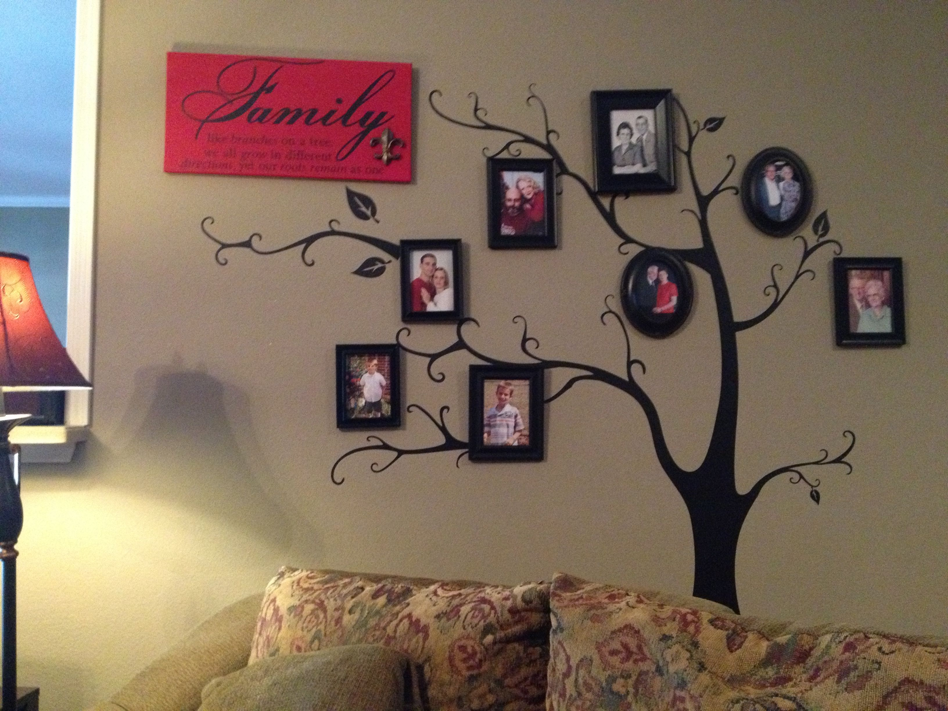 Family tree wall mural going back four generations Tree decal