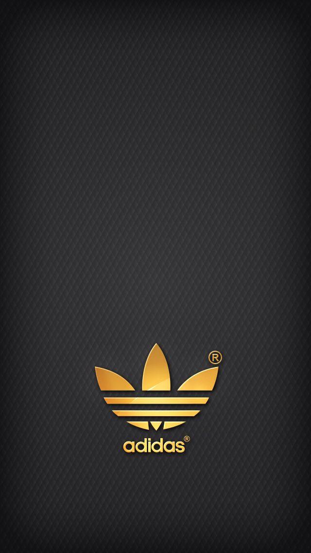 Golden Adidas On Grey Background Adidas Wallpapers Adidas Logo Wallpapers Iphone 6 Wallpaper