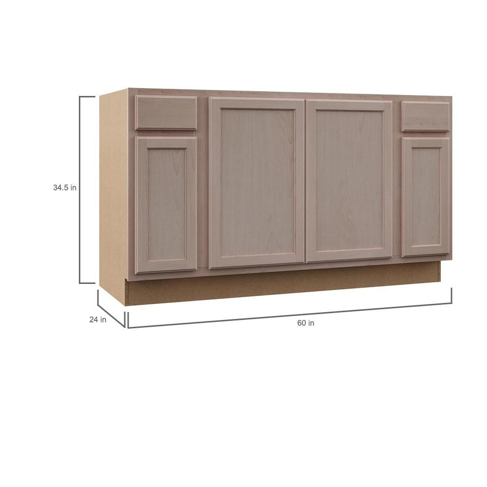 Best Hampton Bay Hampton Assembled 60X34 5X24 In Sink Base 400 x 300