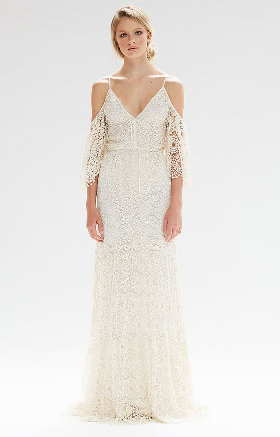 bohemian wedding dress petunia gown by bemybride on etsy boho