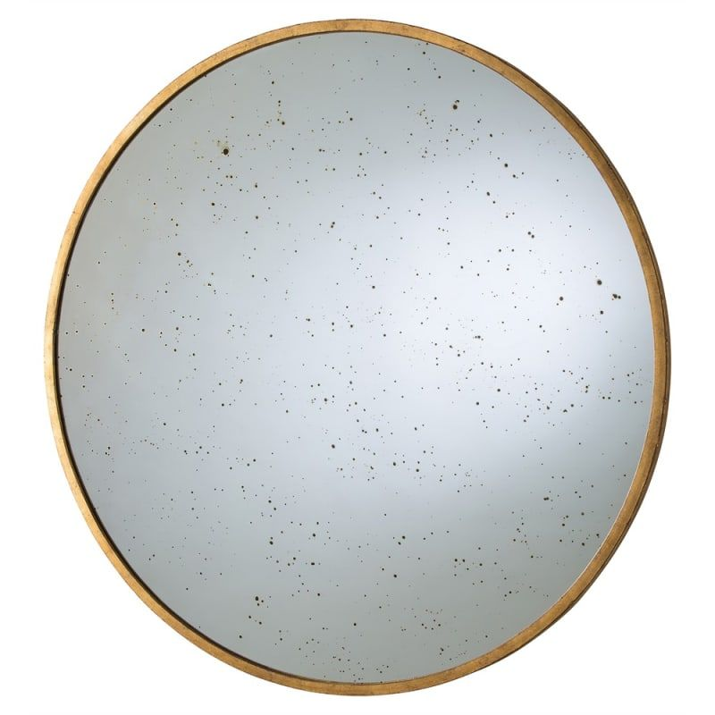 Arteriors 4361 Kira 42 Inch Circular Iron Framed Mirror Gold Leaf Home Decor Mirrors