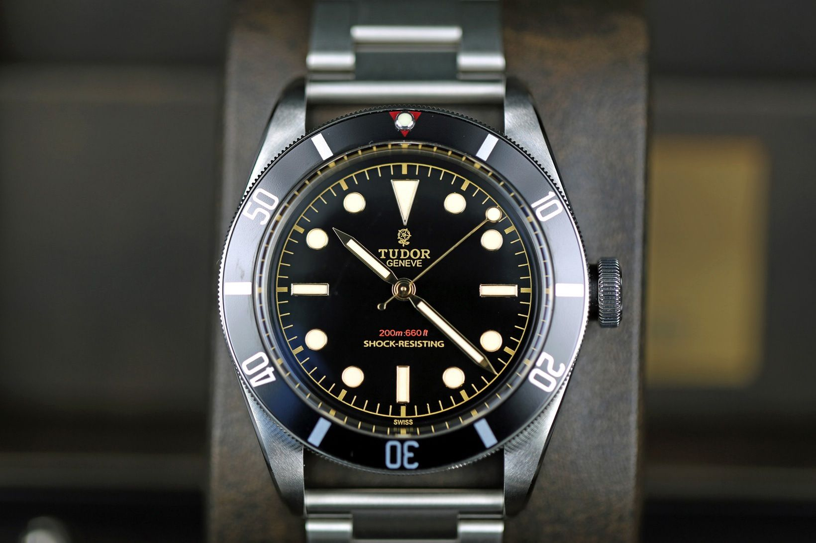 Photo Report A Quick Look At The Unique Tudor Heritage Black Bay One Reference 7923 001 To Be Sold At Only Watch 2015 Live Photos Hodinkee Tudor Black Bay Tudor Heritage