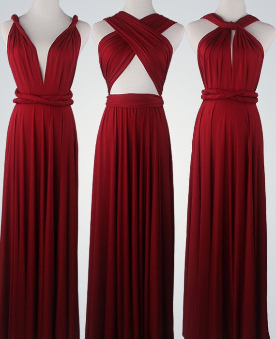 Wine Red Bridesmaid Dress Infinity Dress by VicenteDresses  40d9afddaaf4