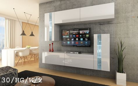 FUTURE 30 Moderno Conjunto De Muebles De Salón, Módulo Bajo Para TV