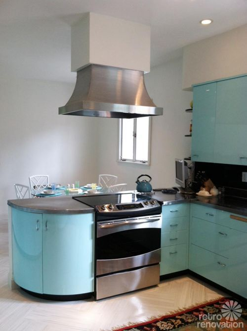 Robert And Caroline S Mid Century Home With Dreamy St Charles Kitchen Cabinets Mid Century Modern Kitchen Kitchen Remodel Small Modern Kitchen