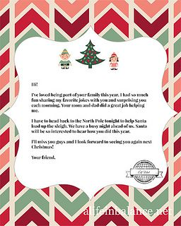 photograph relating to Printable Elf on the Shelf Goodbye Letter identified as Totally free Printables: Elf upon the Shelf Goodbye Letter and