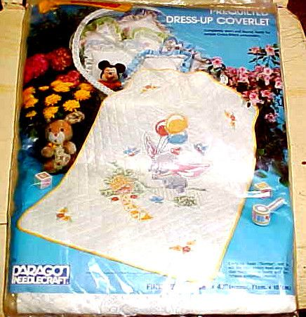 Paragon Disney Dumbo Stamped Cross Stitch Baby Quilt Kit