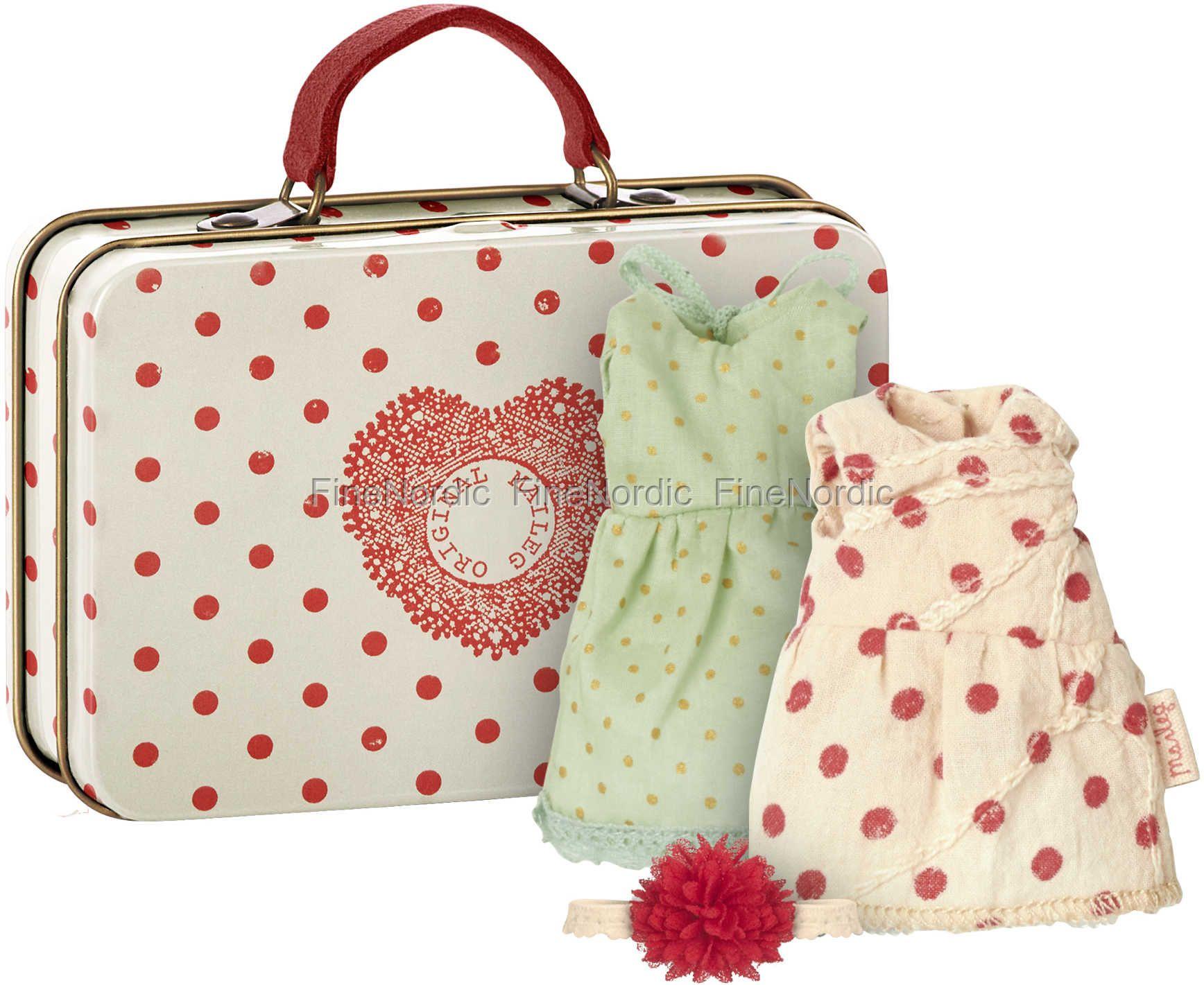 Maileg Maus Koffer med 2 Set Kleider