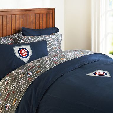 I love the chicago cubs duvet cover pillowcase on pbteen for Rooms 4 kids chicago