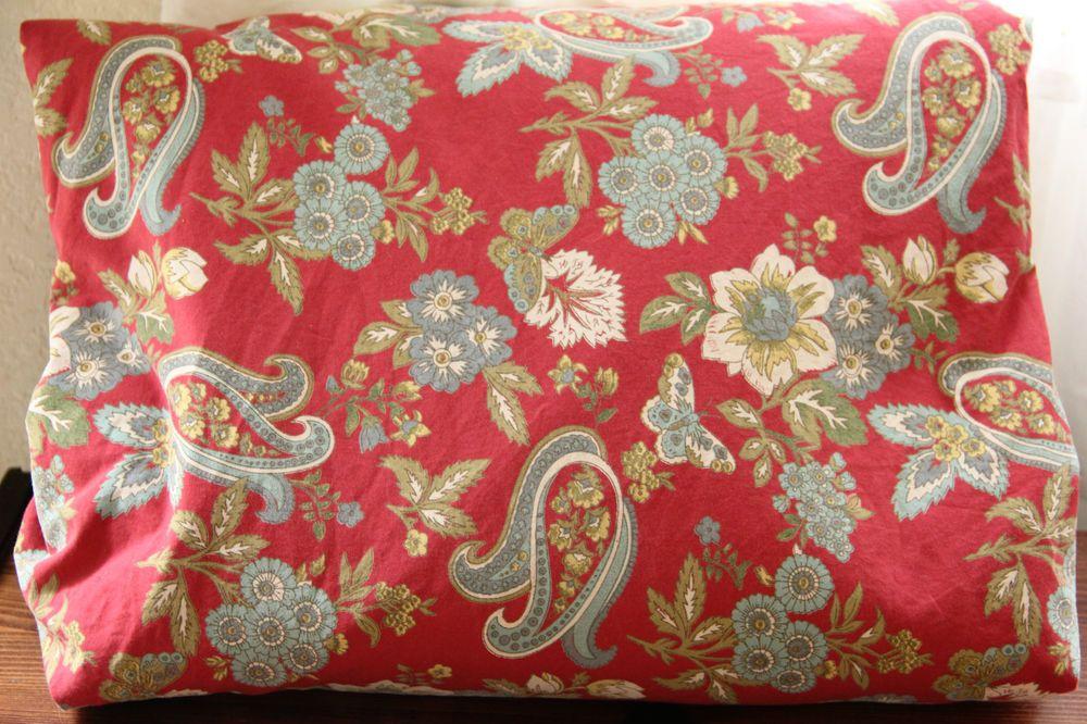 Red And Cream Duvet Quilt Shams Bedroom Parvati Bedding