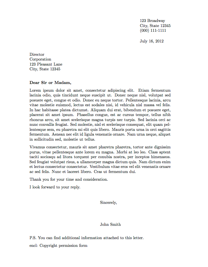 Formal Letter Template – Letter Format Templates