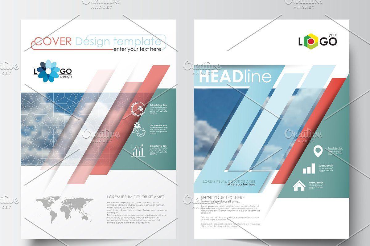 Blue Flat Design Templates Template Design Website Template Design Trifold Brochure Design