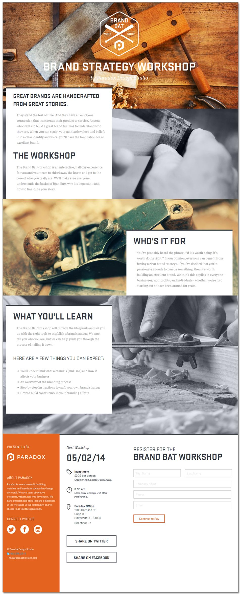 The Brand Bat Web Design Email Flat Layout Page