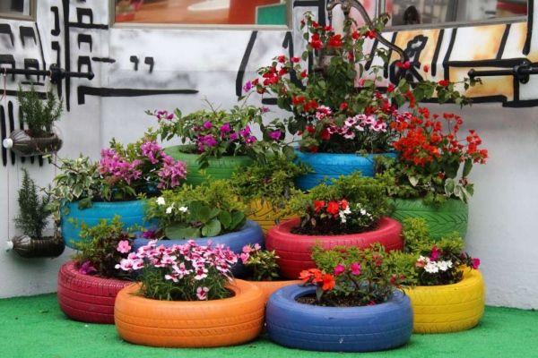 Ideas para reciclar neumaticos reciclaje llantas for Reciclaje para jardin