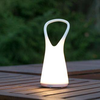 Lampe Baladeuse Led Ext Rieure En Plastique Blanc Hauteur 25 2cm Boo Luminaire Lamp