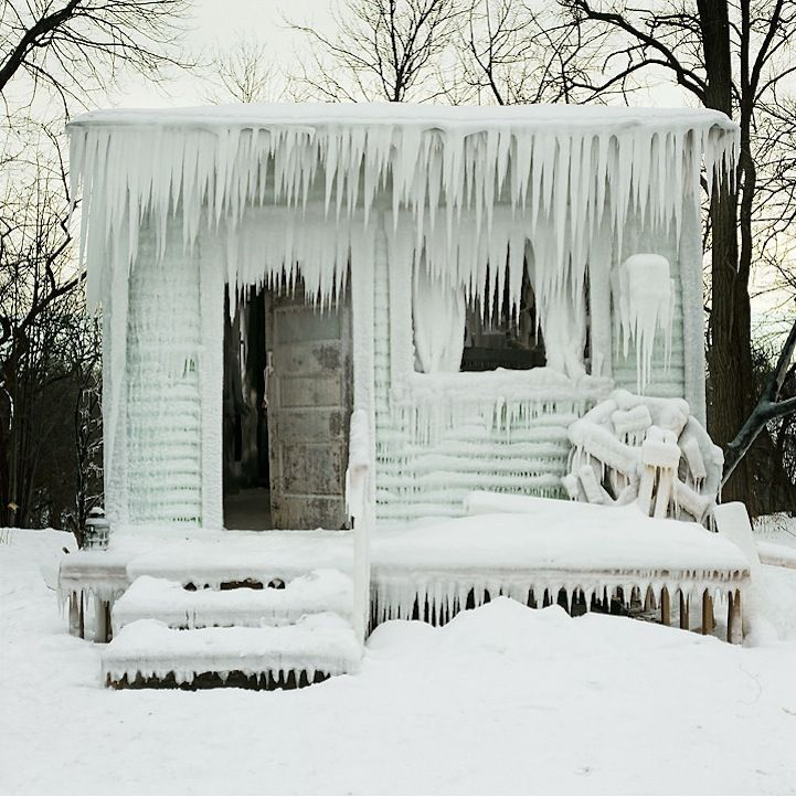 Minnesota-based artist Chris North's frozen-in-time installation.