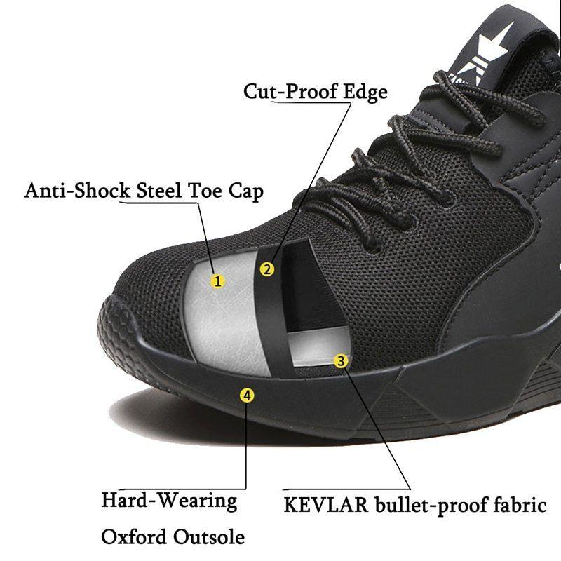 JACKSHIBO Safety Shoes Boots For Men