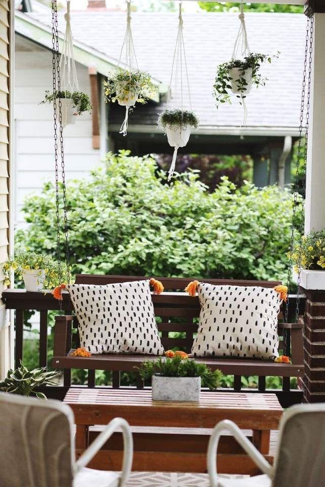 Hangepflanzen Blumenampeln Makramee Balkon Veranda | Балкон ... Hangepflanzen Blumenampeln Balkon