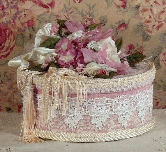 This is a beautiful heavy paper mache large round trinket or hat box that has been & Victorian Rose Keepsake / Trinket / Hat Box - Large Round ... Aboutintivar.Com