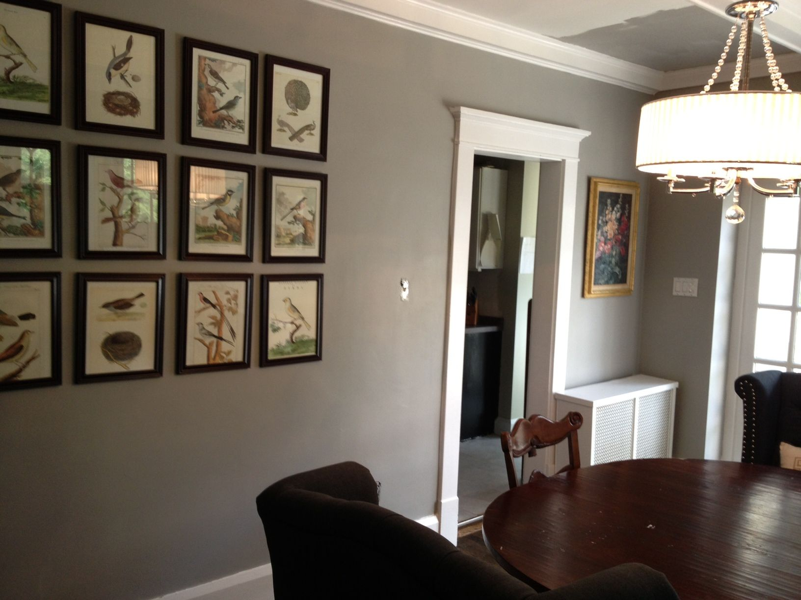 Stone harbor gray by benjamin moore dining room for Gray stone paint color