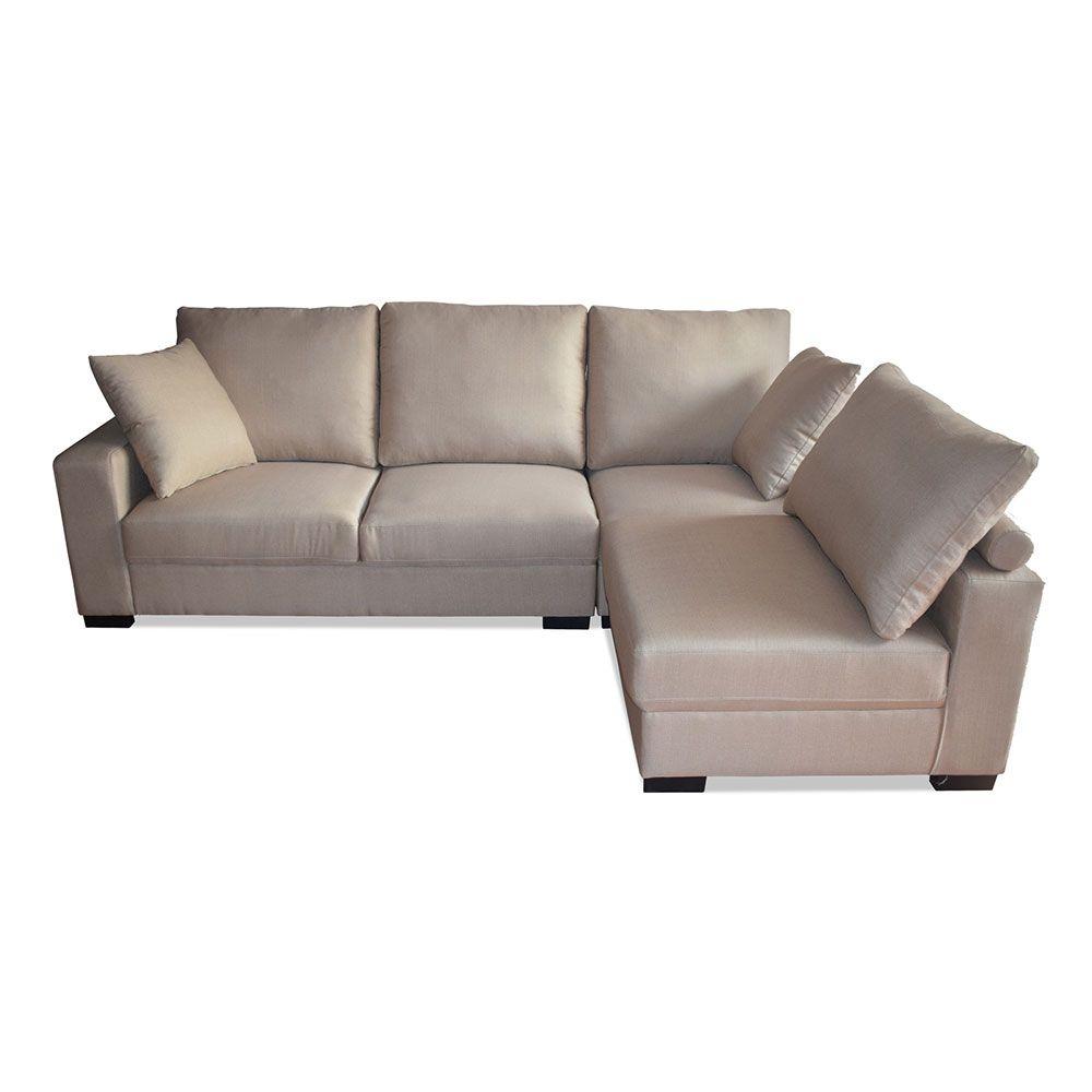 Buy Marcus 4 Seater Modular Fabric Sofa Chaise Setting Taupe Online Australia Comfy Seating Fabric Sofa Chaise Sofa