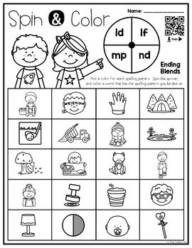 Ending Blends Phonics Game