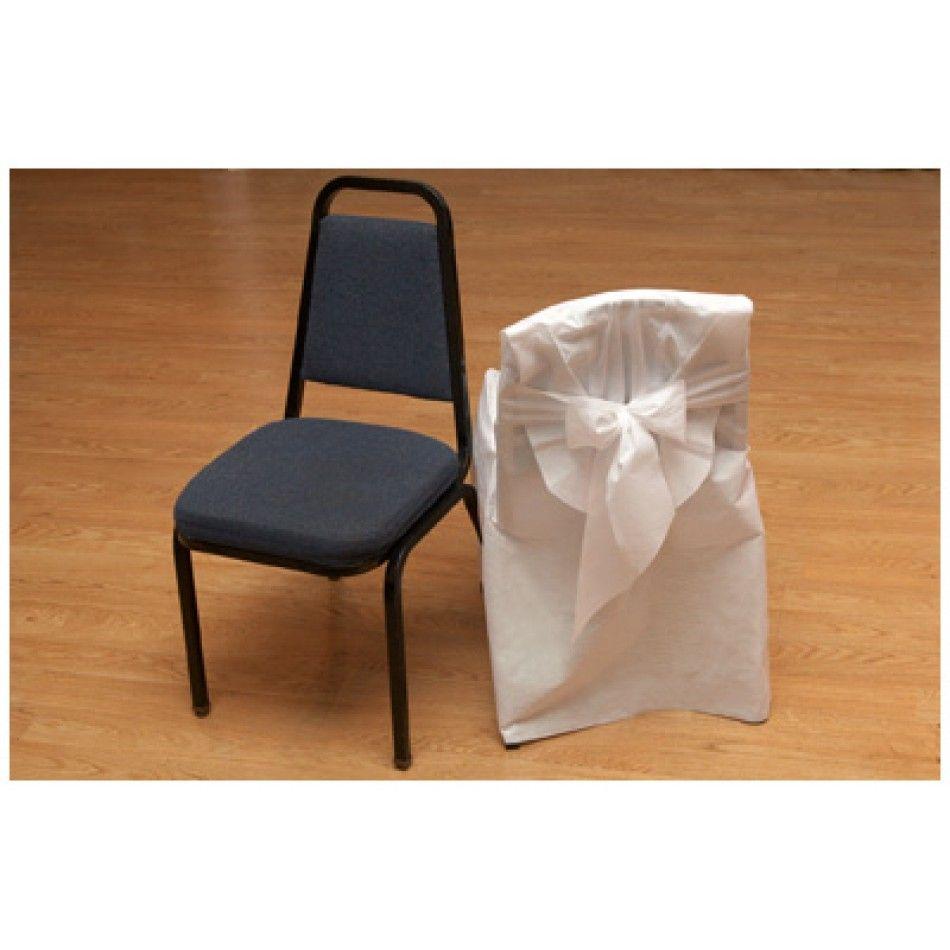 Disposable Chair Covers w/Bow- Banquet Chairs (9 Pcs) Bulk
