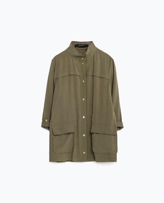 Zara jacke im safari stil
