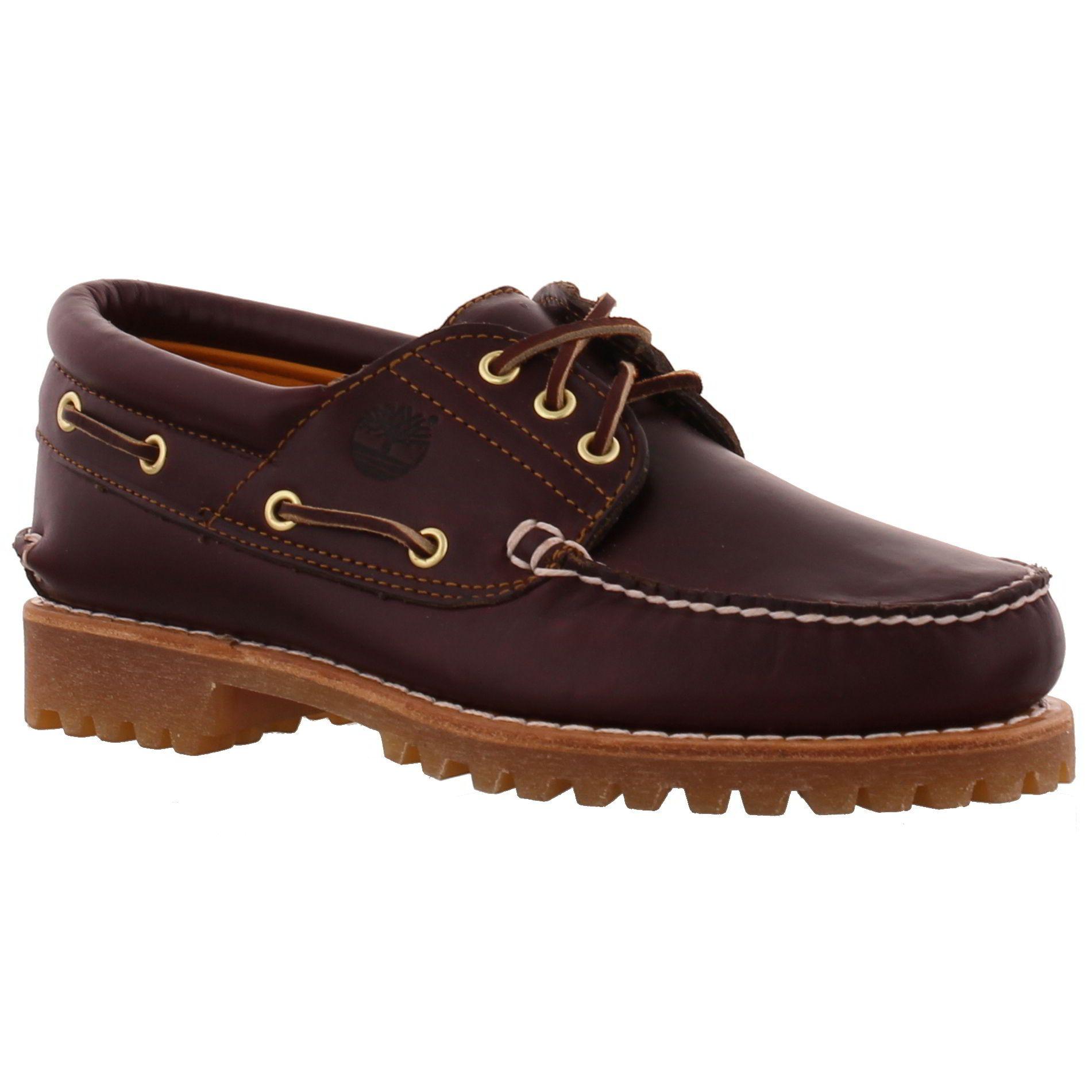 Timberland Mens Heritage Boat Shoes Burgundy | Vêtements