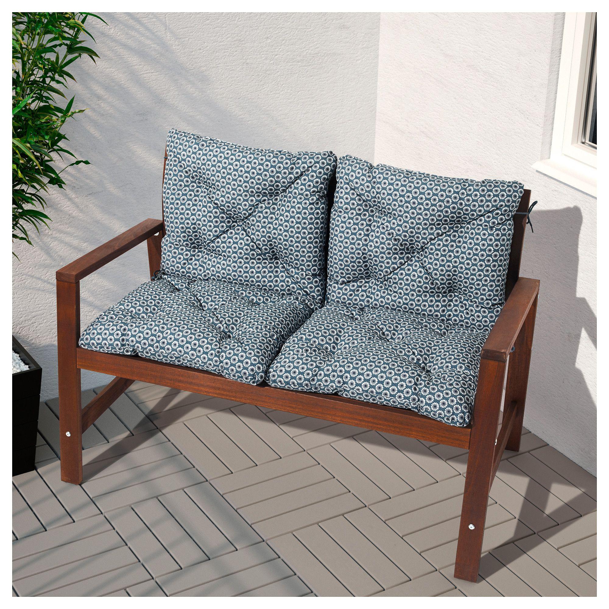 ÄPPLARÖ Bench With Backrest, Outdoor
