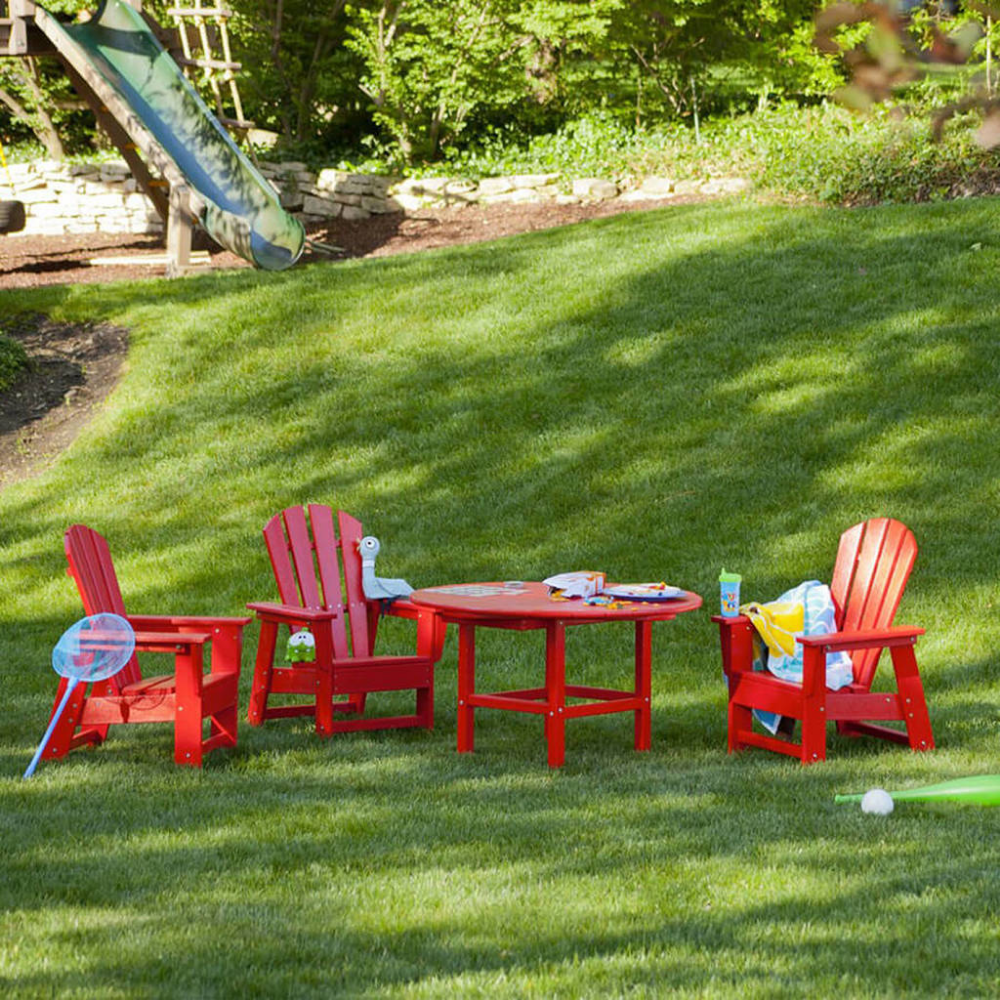 Polywood South Beach Kid Chair Authenteak Kids Outdoor Furniture Kids Chairs Outdoor Kids