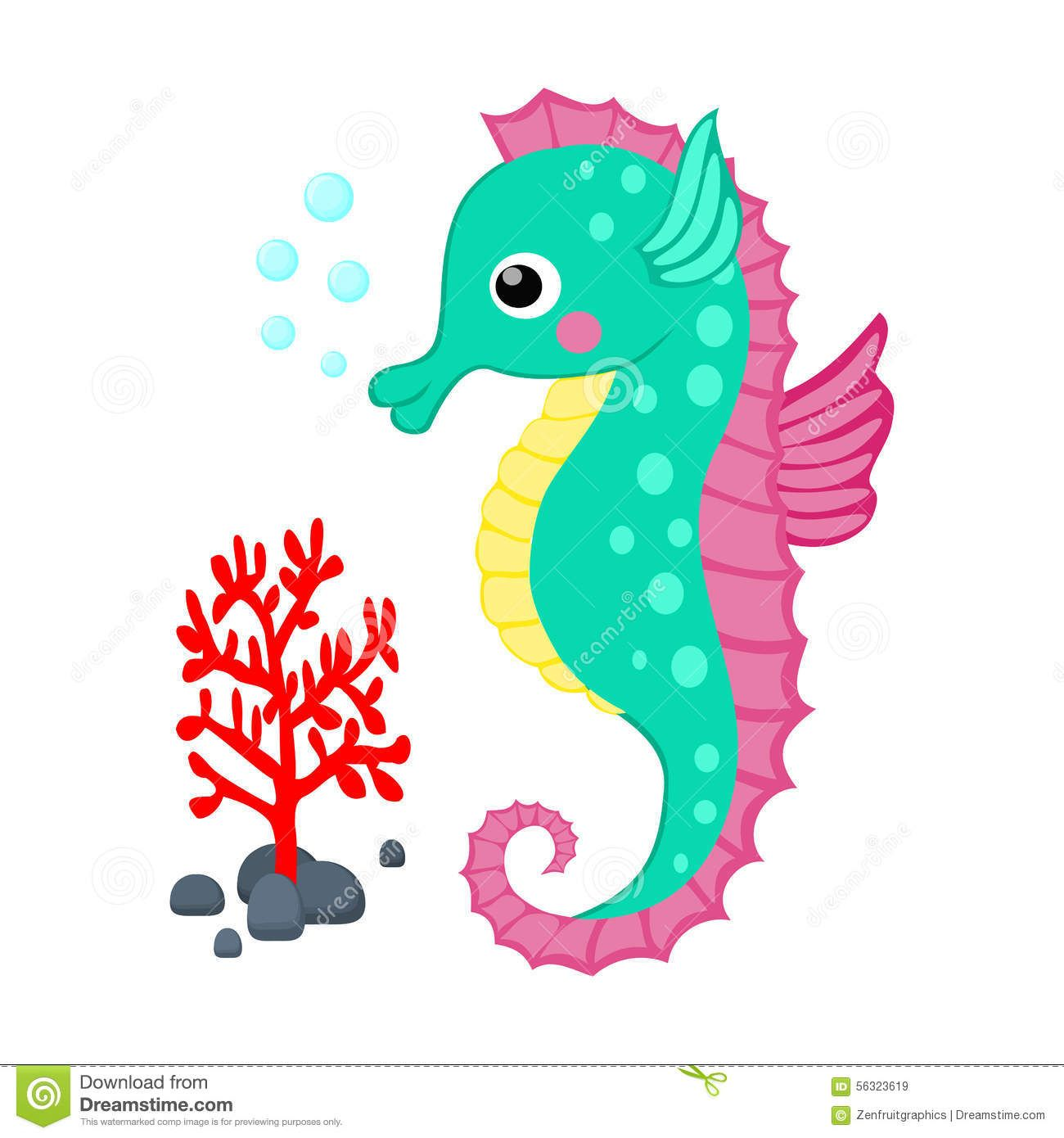 cute cartoon seahorse and red seahorse pinterest seahorses