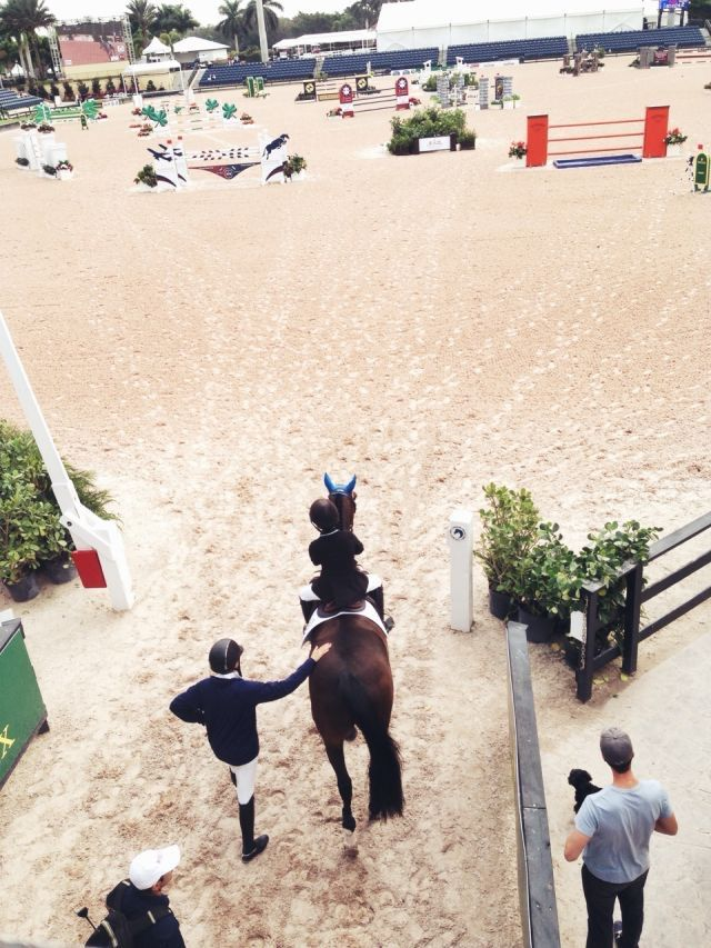 most nerve-racking moment at horse shows