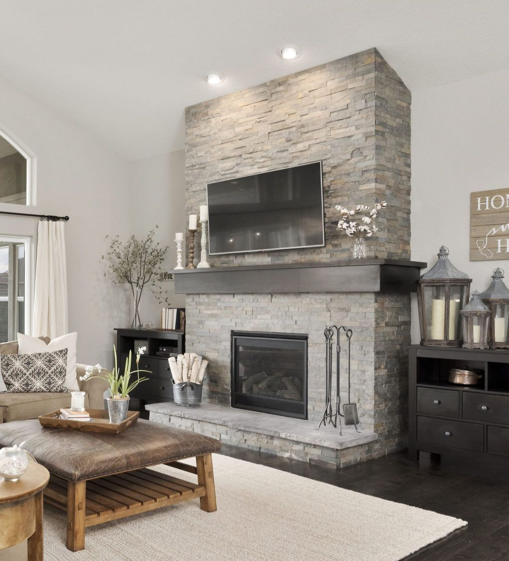 The Best Fireplace Decor For Winter Stone Fireplace Makeover Living Room With Fireplace Slate Fireplace